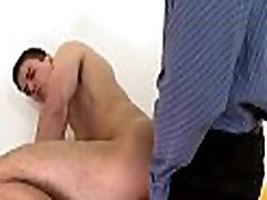 Cute gay stud gets his tight a-hole aperture thrashed
