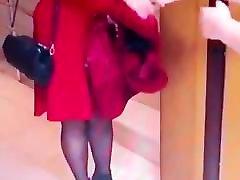 Slut turkish woman in Shiny black steep teen