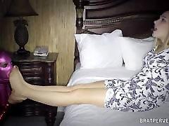 BLONDE in Tan NYLON indla porn Dominates a Guy