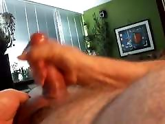 Daddy shot a big load with his huge uncut cock!