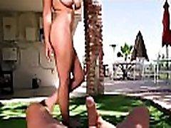 Artist fucks huge naturals model outdoor