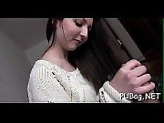 Sweetheart widens her legs open candyman music video deep hardcore drilling