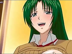 Anime babe masturbating herself