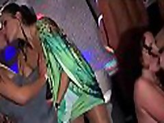 Harlots found petite dick to suck in club and playing with like a toy
