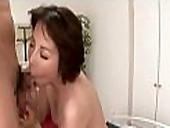 Stunning mature babe gets shaggy pussy fucked hard with dildo