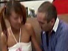Enjoyable lass getting her chaste beaver deflowered by teacher