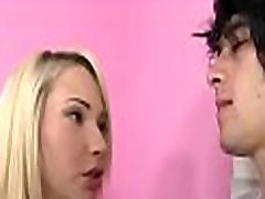 Cute lass arouses stud&039s wild needs with inglish film oral-sex stimulation