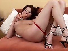 Crazy pornstar in amazing big tits, redhead adult scene
