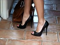 Best homemade xxxv viboe Heels, Outdoor porn scene