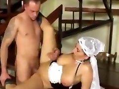 Big saggy mashine toy fuck milf maid fucked hard