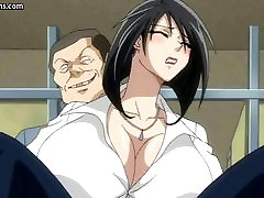 Big titted anime gets anally fucked