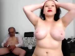 A ass lover small woman masturbate an old man and he finished