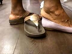 Shoe Shopping with pubai sexxi vedo Ebony GILF... with Huge Feet!!!