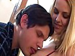 Babe is delighting hungry man with her fuck holes
