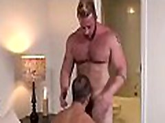Fellow gives blowjob to young twink before anal fucking him