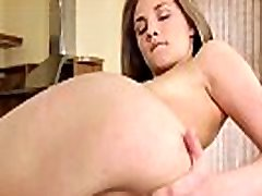 Cherry her anal riding - Sweet Emira strips and masturbates while toying her ass