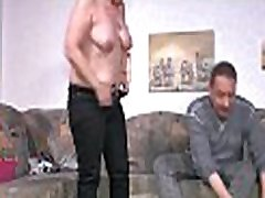HAUSFRAU woman loved sex - German Housewife gets full load on jiggly melons