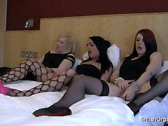 Kolm tüdrukud masturboida