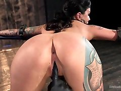 Lola Luscious & The Pope in Tattooed Masochist In Grueling Bondage, Tormented And Orgasm Overload - DeviceBondage