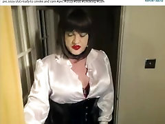 CandySmokes Slutty CD Tranny Smoking and Exposing Clitty Cock pt 7