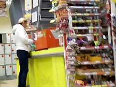 Young MILF&039;s ass in supermarket