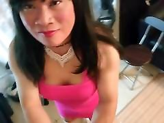 Asia In Hot Pink Dress 4