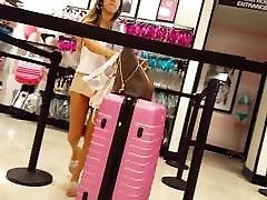 Candid voyeur petite joggole xx lingerie shopping
