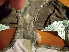 Cum in buddy&039;s girlfriends dirty V.S panties