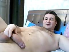 Big Dick Daddy Strokes His Cock Until He Cums