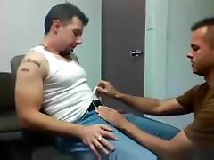first gay jerk of blowjob