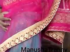 Remove my saree - Desi Escort girl Manusha Tranny exposing