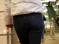Girl with nice homm cock in short porn hot jeans