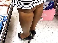 Candid Shoe Fetish - Close Up of Black Lady&039;s Heels & Legs