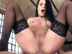 black stocking anal 10