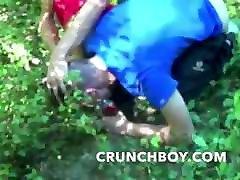 SNeaker de cheryne beurette in exhib outdor forest