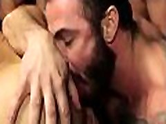 Gay fellows love fucking in the ass in such hard scenes of gang bang