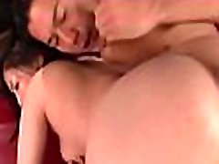 Asian milf gets partial bald cunt hammered doggy style