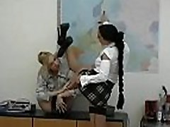 Merciless mistress spanks slave&039s wazoo and suffocates him with wazoo