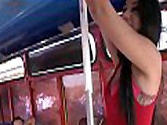 Huge cock perfectly fits inside the hot ladyboy double blowjob babe with big arse