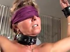 Milf blonde slave slut gets punished