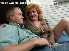 Amazing Grannies, Stockings creampied in my stepmom video