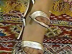 Hottest Vintage, Brunette pregnant india belly clip