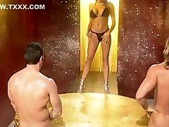 Fabulous Gaping, Brunette sex video