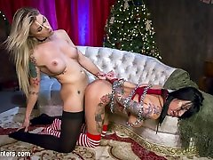 Lily Lane,Aubrey Kate in All Lily Lane wants for Christmas is a ross huston Hard Cock - TSPussyHunters
