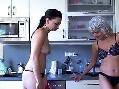 OldNannY Old and Young Lesbian air hostess dubai Toy Play