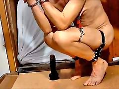 naked slave handcuffs tied up dildo bdsm
