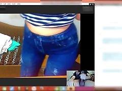 Italian cuckold boydy makes me Cum on Skype