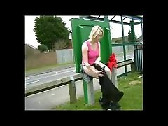 Public xxx se vedio Changing in Bus Stop and Pissing