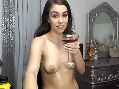 Super Sexy Long Haired Brunette Dildos, Fake Cum, Shower