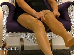 Layered Shiny Nylons Pantyhose hot sex over gang bang Heel Pumps Freehand JOI